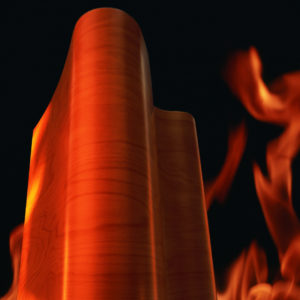 Schwerentflammbares Formholz