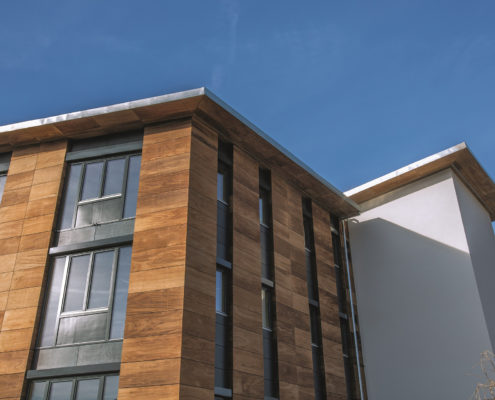 Fassade aus Thermoholz