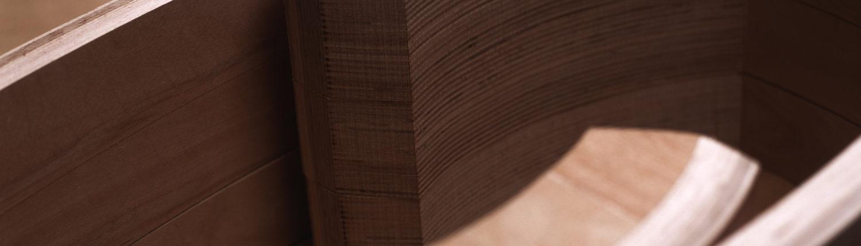 Querschnitt durch Formsperrholz