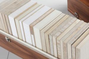 Muster von Tischlerplatten